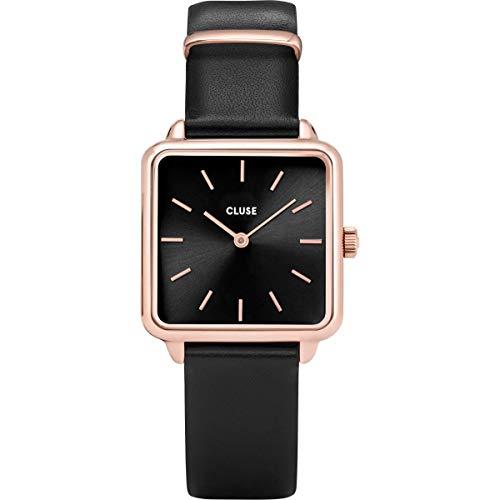 Cluse Damen Analog Quarz Uhr mit Leder Armband CL60007