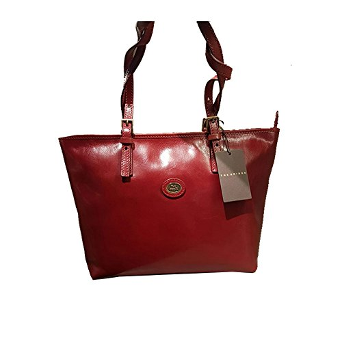 The Bridge Story Donna Sac à main Fourre-tout cuir 30 cm rosso ribes