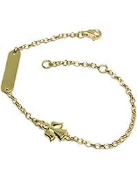 674941afaa28 Amazon.es  placa de - Oro amarillo   Pulseras   Mujer  Joyería