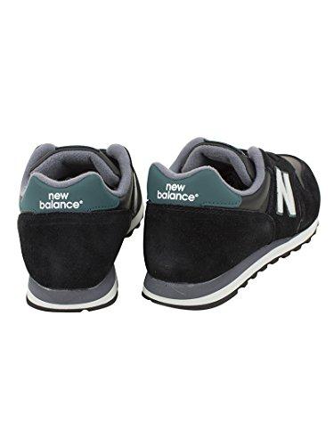 New Balance ML373 D, Baskets mode homme Black (Black/White/Green)