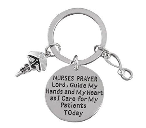 Krankenschwester Schlüsselanhänger, Nurse Geschenk, Gebet Schlüsselanhänger, Pflege Schlüsselanhänger, leicht Krankenschwestern Geschenk -