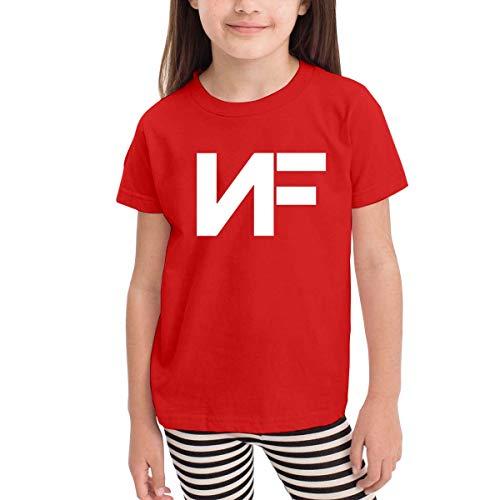 Solid-footed Sleeper Pajamas (Kinder Jungen Mädchen Shirts NF Rapper T Shirt Kurzarm T-Shirt Für Tollder Jungen Mädchen Baumwolle Sommer Kleidung Rot 3 T)