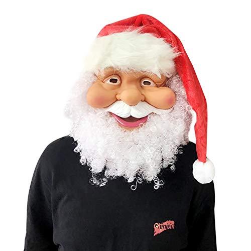 WAINEO Weihnachtsmann Maske Full Face Covered Party Maske Weihnachten Kostümzubehör Party Supplies