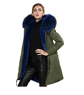 parka xxl kragen aus 100 echtpelz echtfell jacke mantel khaki 8 farben bekleidung. Black Bedroom Furniture Sets. Home Design Ideas