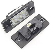 KaTur - 1 par de luces LED de matrícula, 18 LED y 3528 SMD