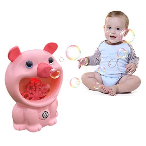 Snakell Seifenblasenmaschine, Bubble Machine für Kinder Indoor und Outdoor Bubble Maker Spiele Badewannenspielzeug Wasserspielzeug Blasen Automatisch-Sprühen mit Musik Lied für Kinder Geschenk