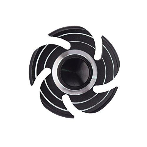 CRAZYCHIC® Hand Spinner - Toupie TETE DE MORT - NINJA en ALU léger - Rotation longue durée - Haute Qualité (Turbo noir)