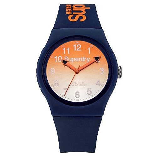 Superdry Unisex Analog Quarz Uhr mit Silikon Armband SYG198UO