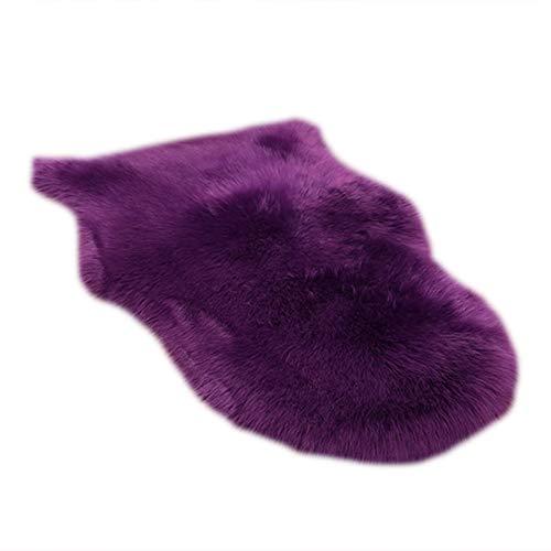 little finger Super weicher Flauschiger Zottelteppich Wohnzimmer Couch Sofa Sessel Kissen Dekor fügen Sie Ihrem Leben EIN, Plüsch, violett, Einheitsgröße
