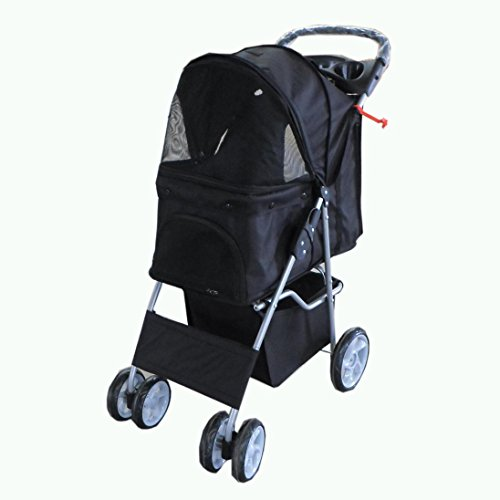 foxhunter-new-black-dog-puppy-cat-pet-travel-stroller-pushchair-pram-jogger-buggy-with-two-front-swi