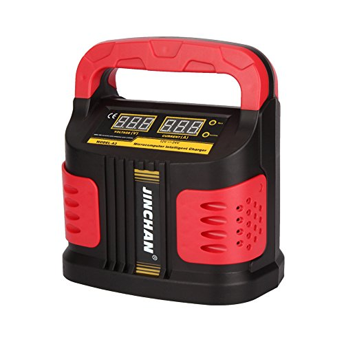 Chargeur de Batterie Moto Voiture Mainteneur Intelligent Automatique de 12 V 24 V(DC)/160V-260V(AC)/40 AH à 200 AH-JINCHANN