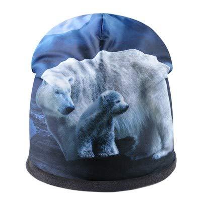 Mode Hommes Chapeau Animal Motif 3D Impression d'hiver Bonnet Épais Chapeaux pour Femmes Hip Hop Cap Streetwear Bonnet