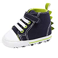 Girls Shoes, Newborn Baby Girls Crib Soft Sole Anti-Slip Canvas Infant Sneakers Infant Boys Girls Soft Sole Anti-Slip Canvas Summer Shoes Soccer Cowboys Classic Casual Sport Sneakers by YONSIN Blue