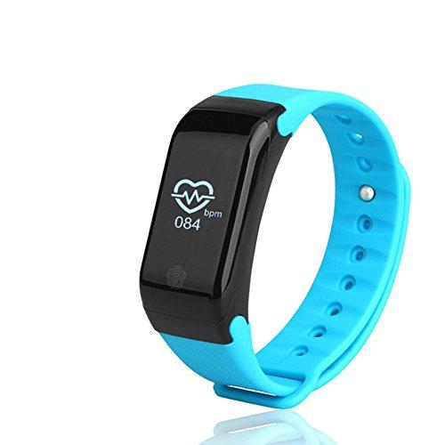 Fitness Tracker Neue Sport wasserdicht Smart Armband Armband Uhr mit Pulsmesser Schrittzähler Touchscreen für iPhone Samsung IOS Android Smartphones(Green)