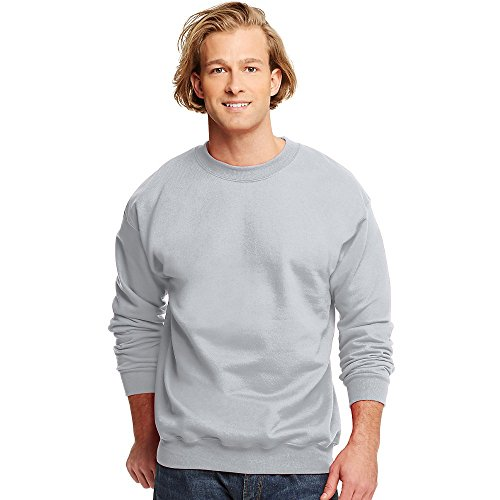 Heavyweight Long Sleeve Tee (Hanes Men???s Ultimate Cotton® Heavyweight Crewneck Sweatshirt 2XL Grey)