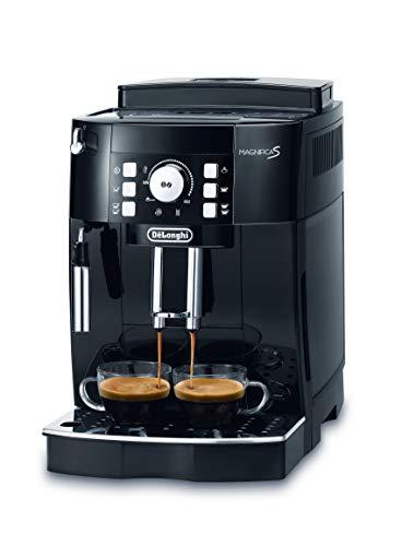 De\'Longhi Magnifica S ECAM 21.116.B Kaffeevollautomat (Direktwahltasten und Drehregler, Milchaufschäumdüse, Kegelmahlwerk 13 Stufen, Herausnehmbare Brühgruppe, 2-Tassen-Funktion) schwarz