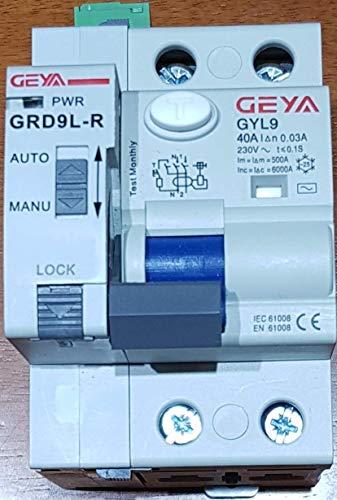 Interruptor diferencial auto rearmable 6Ka 2P 30ma (40A)