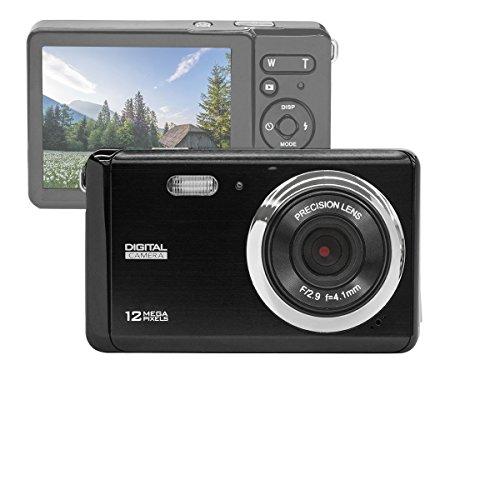 """GDC80X2 Appareil photo numérique compact avec zoom numérique 8x / 12 MP / Caméra Compact HD / Ecran TFT LCD 3"""" (Noir)"""