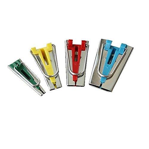 BESTOMZ Schrägbandformer Kurzwaren Schrägband Werkzeug Edelstahl Nähen Zubehöre Tape Maker Set 4er-Set in 6mm 12mm 18mm 25mm