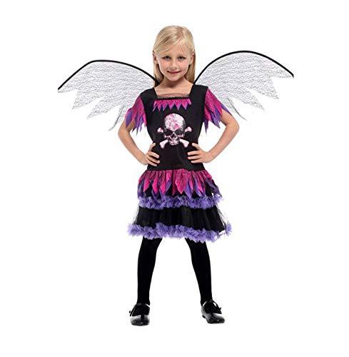 Zygeo - Halloween Tag der Kinder-Partei-Skelett-Kostüm für Kinder Schädel Skeleton Monster Dämon Geist Scary Kostüm-Kleid-Robe für Mädchen [L G0271]