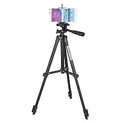 Smiledrive 105 Cm Long Dslr/Mobile/Gopro Action Camera/Digital3 Way Pan & Tilt Camera Tripod - Light Weight Pro Travel Tripod