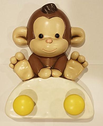 Egan Affe Monkey no48fh/2Garderobenhaken Kleiderhaken Haken Affe