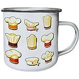 Nueva Colección Chef S Sombreros Retro, lata, taza del esmalte 10oz/280ml l591e