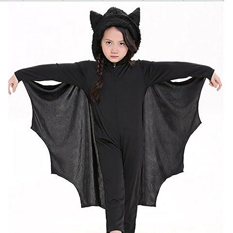 YOKIRIN 1X Halloween Kostüm Kinder Cospaly Maskerade Kostüm Kleidung Schläger Fledermaus Kostüm M(Größe:S M L (Halloween-kostüme Für Zwei Kinder)