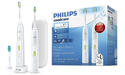 Philips Sonicare HX8923/34 HealthyWhite+Elektrische Zahnbürste mit Schalltechnologie, weiß, Doppelpack
