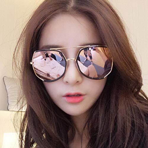 123 Sonnenbrille weibliche Persönlichkeit rundes Gesicht UV-Schutz koreanischen Männer Brille großen Rahmen Sonnenbrille Frauen Mode wilden Flut Modelle yym8817 schwarz (senden Spiegel Tuch Spiegelta