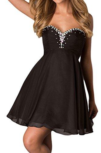 Promgirl House Damen A-Linie Chiffon Cocktailkleider Partykleider Ballkleider Abendkleider Kurz Schokolade