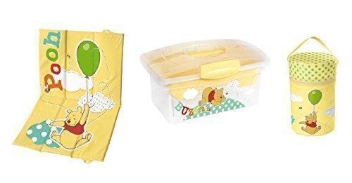 Preisvergleich Produktbild Reise-Wickelunterlage + Warmhaltebox + Traveller Box Disney Winnie Pooh gelb