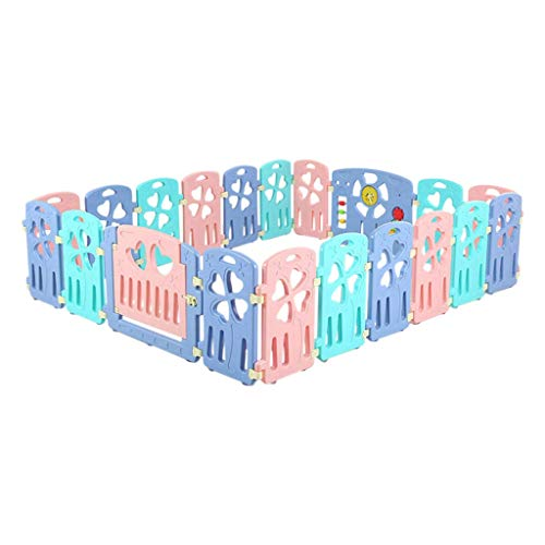 Baby Playpen HUYP Pet Fence Baby Fence Play Panels Children Crawling Toddler Playpens (Size : 18 small pieces)  HUYP