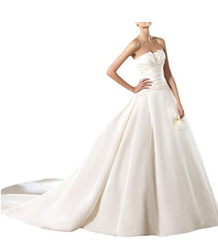 TOSKANA BRAUT Modisch 2017 Neu Chiffon Rueckenfrei Abendkleider Spitze Paillette Schleppe Ballkleider A-Linie Hochzeitkleider Mini 194284
