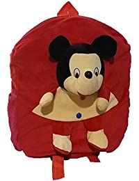 Pari Toys Red Color School Bag For Kids, Travelling Bag, Picnic Bag, Carry Bag With Soft Material 15 Inch - B074CH5WT3
