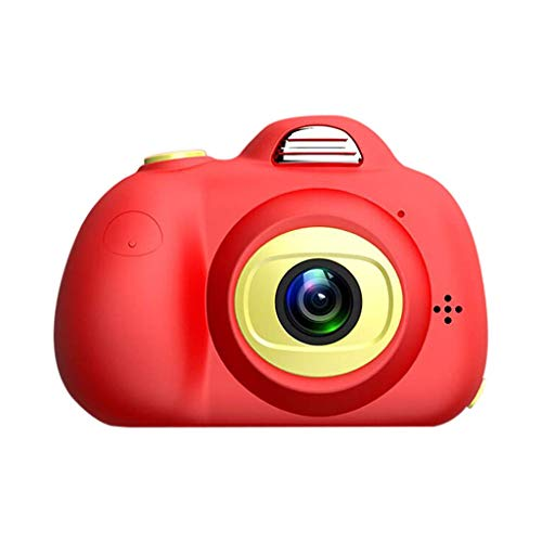PIANAI DIY Kamera für Kinder mit Aufkleber Digital Kamera Mini Kids Camera Kinderkamera inkl.USB Kabel,Red