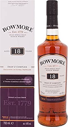 Bowmore 18 Years Old Deep & Complex Whisky mit Geschenkverpackung (1 x 0.7 l)