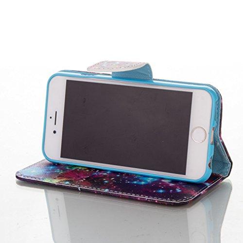 iPhone 6S Custodia, Felfy Flip in PU pelle Portafoglio Custodia Cover Gatto Design per Apple iPhone 6/6S, Portafoglio Wallet / Libro /Cuoio Chiusura Magnetica Porta carte di Protettiva Tasca Copertina C10