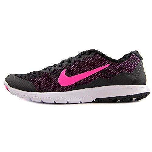 Nike Unisex-Erwachsene Wmns Flex Experience Rn 4 Laufschuhe Black (Schwarz / Pink Foil-weiß)