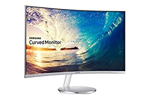 Samsung C27F591F 68,6 cm (27 Zoll) Monitor (HDMI, 4ms Reaktionszeit, 1920 x 1080 Pixel), silber/weiß