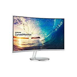 Samsung C27F591 Monitor per PC Desktop Curvo 27'', 1920 x 1080, Cornice Ultrasottile, 4 ms, Freesync, D-sub, HDMI, Flicker Free, FreeSync, Modalità Gioco, Bianco