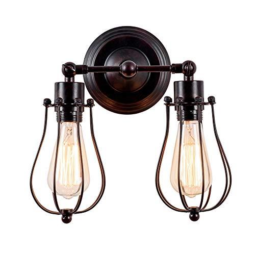 fsttm88 Vintage industrielle Wandleuchte, langlebige Retro Grapefruit Form Lampe Lichter Drahtkäfig Vintage Iron Art Lampe Leuchten für Schlafzimmer Pavillon (Keine Glühbirne) -