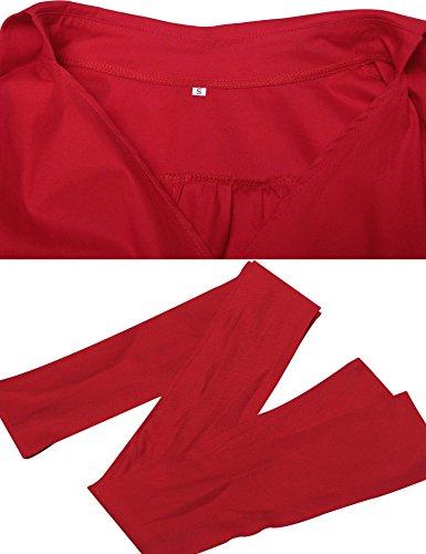 ZEARO Vintage Années 50  s Style Audrey Hepburn Rockabilly Swing Robe de  Fête de Piquenique Col V Ceinture Rouge Jeu Amazon Dernier Liquidation Vue  Prise 81e26a1ee9d8