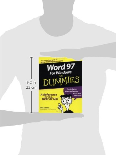 """Ex-Library"",Word 97 for Windows For Dummies,Dan Gookin"