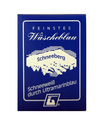 Feinstes Wäscheblau Schneeberg, Schneeweiß durch Ultramarinblau, 6er Pack (6 x 50 g)
