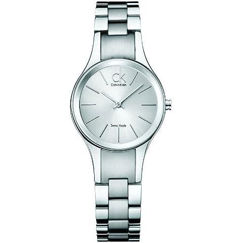 Calvin Klein Simplicity K4323185 - Reloj de mujer de cuarzo, correa de acero inoxidable color plata