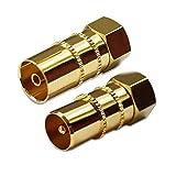 Bild des Produktes 'Max-X SAT Adapter Koax Antenne (1x F-Stecker auf IEC Antennenstecker, 1x auf Antennenbuchse), Coax Kupplung für Koa'