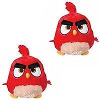2er Set Angry Bird Hatchling Rot als Plüschtier - ca. 22cm.