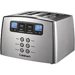 Cuisinart CPT440E Toaster motorisé 4 tranches, Acier brossé