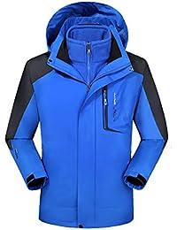 Hombre Mujer Softshell Chaquetas 3 en 1 Montaña de Invierno Abrigo  Impermeable Chaqueta de Acampada y 2a11b3641ce